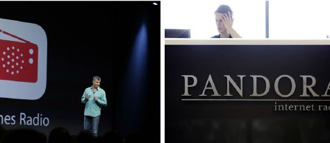 Competition between iTunes Radio and Pandora emerges