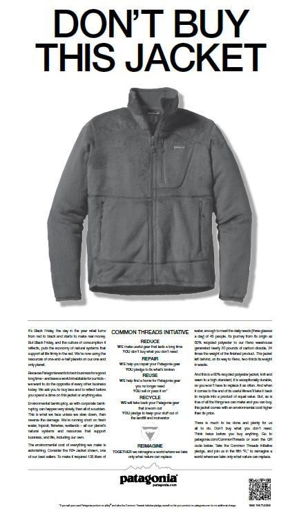 Patagonia is one brand urging customers to reduce, reuse, recycle | Patagonia