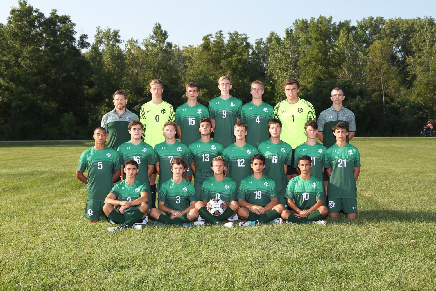 Boys varsity soccer team getting ready for the playoffs after a strong regular season