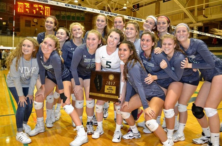 Girls+Volleyball+celebrating+sectionals+win+over+Hersey+++%7C+Maisel