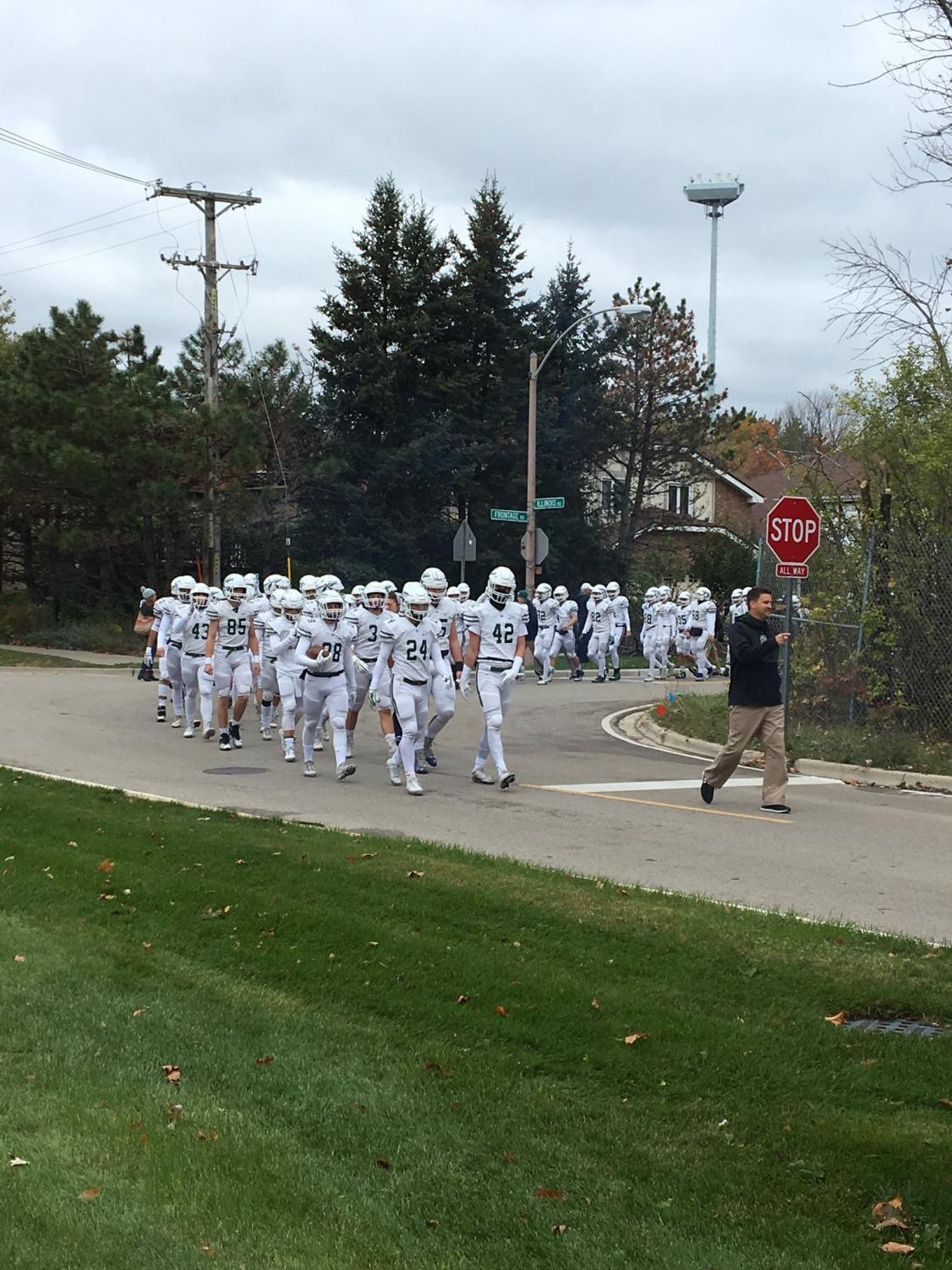 The team marches from NT to meet Loyola at  Hoerster Field | NT Athletics