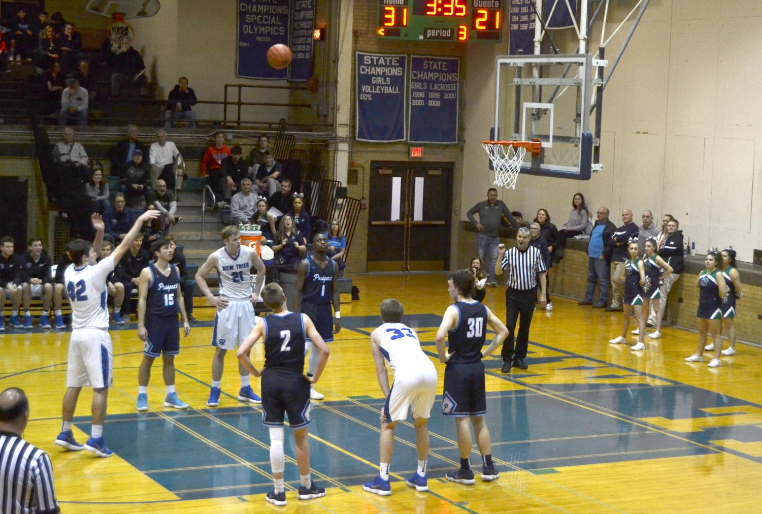 Senior G/F Griffin Ryan goes to the line while NT is up 10 | Pearlman