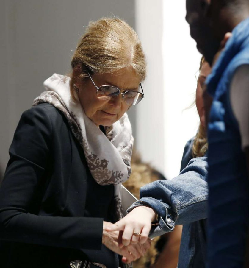 Famed+feminist+Gloria+Steinem+was+in+attendance+at+NY+Fashion+Week+++AP