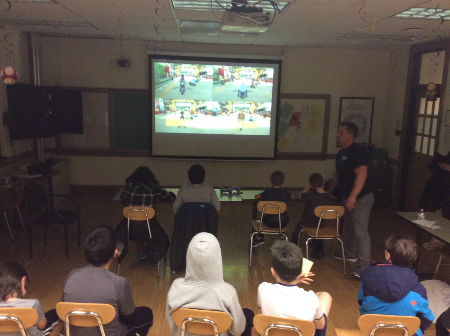 The Bushell's senior boys' advisery hosted a Mario Kart booth | Schmit