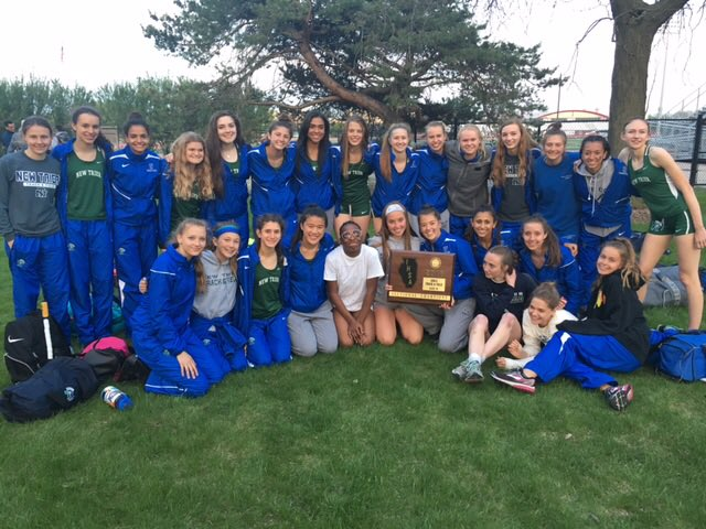 New+Trier+girls+varsity+track+celebrate+a+sectional+title+win+by+holding+up+the+plaque+++++%7C+New+Trier+Athletics+Twitter