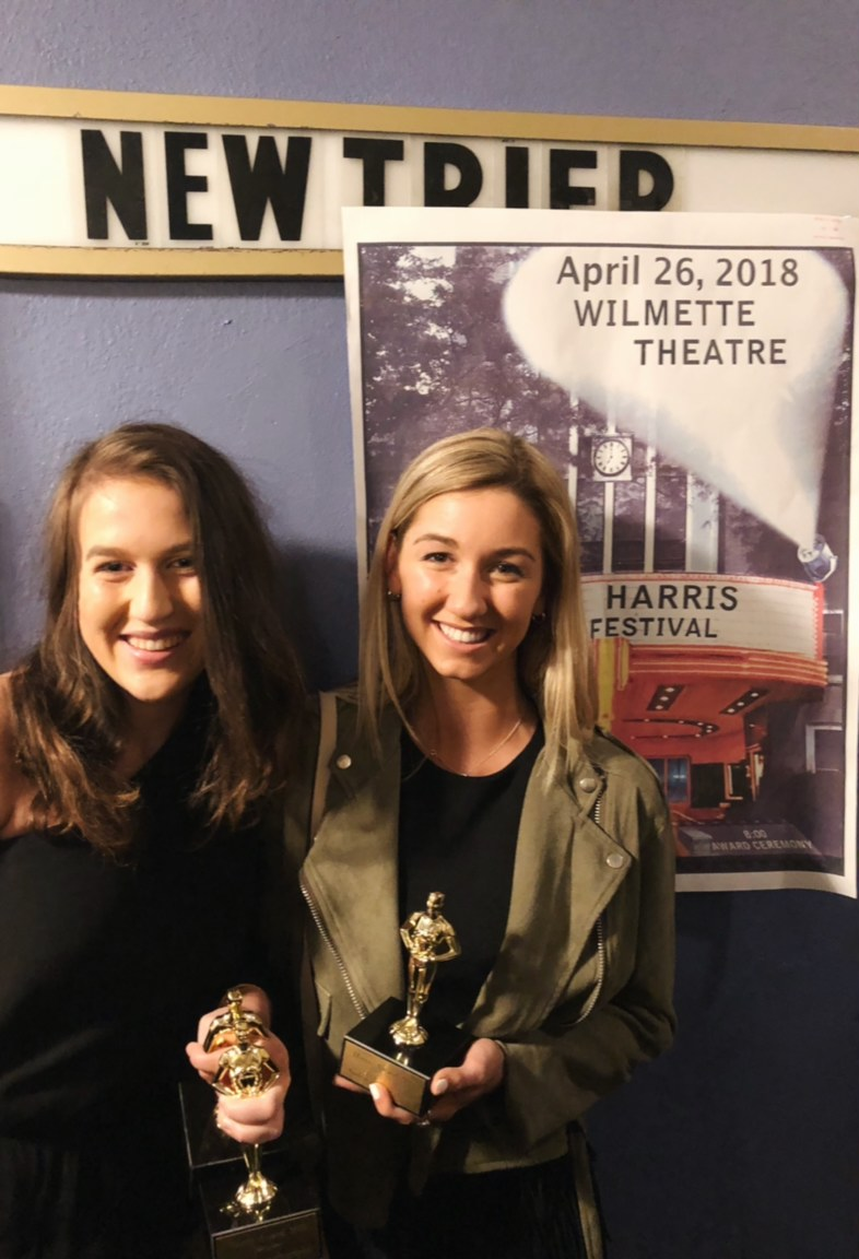 "Spahr and Phillips celebrate their Harris Awards for ""Flying Colors"""
