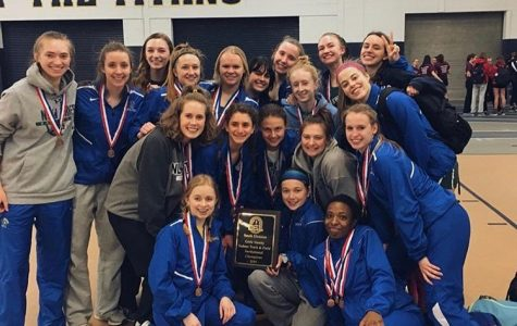 Girls track and field racks up points at conference