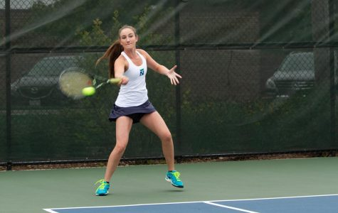 Girls tennis finishes second at home invitational