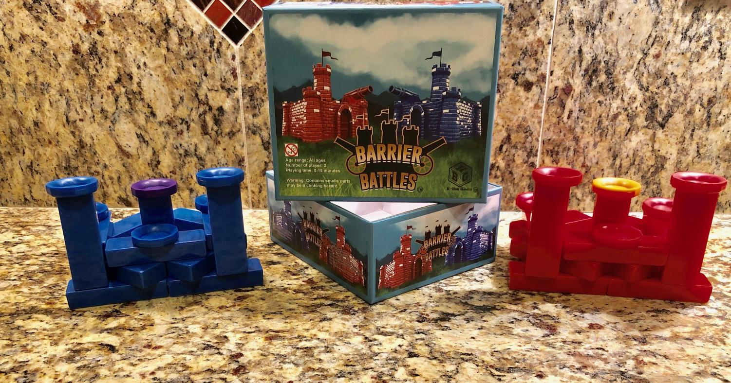 Buyers of Barrier Battles will receive a complete set containing instructions and multi-colored pieces