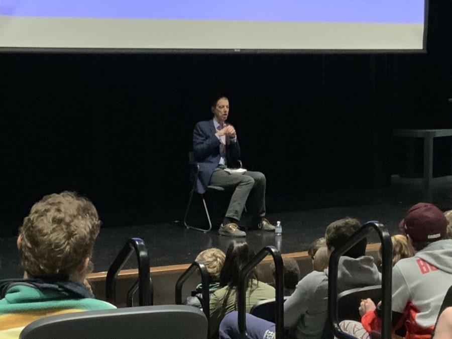 K.C.+Johnson+speaking+to+NT+students