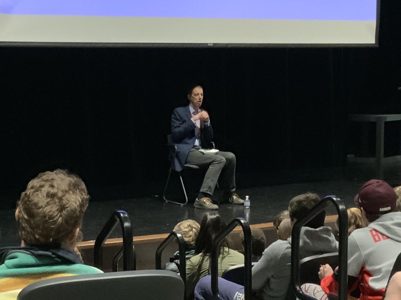 K.C. Johnson speaking to NT students