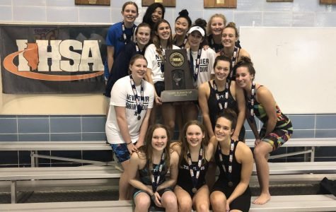 Girls swimming and diving places second at state
