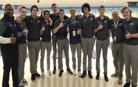 The bowling team after a successful run at state in southern IL