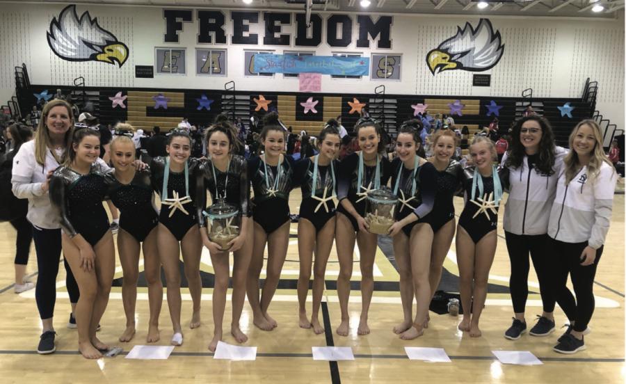 Gymnastics shines at CSL meet