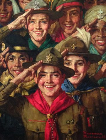 BSA plans to sell its Norman Rockwell collection including this painting called An Army of Friendship to pay for legal fees