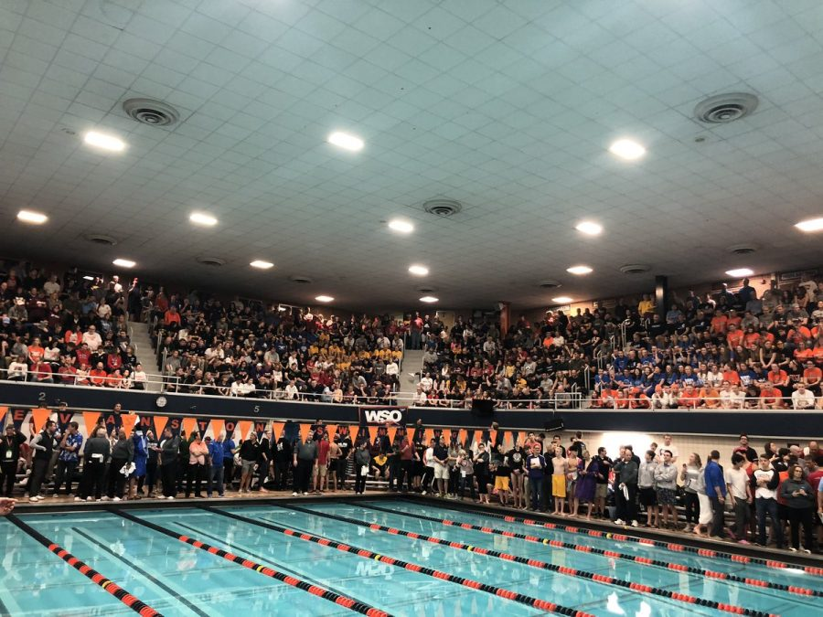 The+Evanston+pool+stands+ready+for+the+2020+Boys+Swimming+%26+Diving+State+Championship