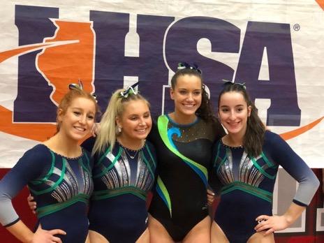 The team's seniors (left to right: Amy Zun, Avery Faulkner, Maeve Murdock, and Rachel Zun)