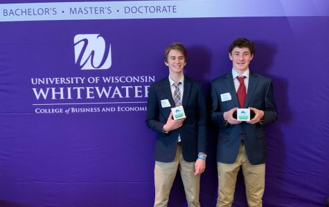 Charlie Olesker and Ethan Gray ranked 5th at the Midwest Pitch Competition on Mar. 4