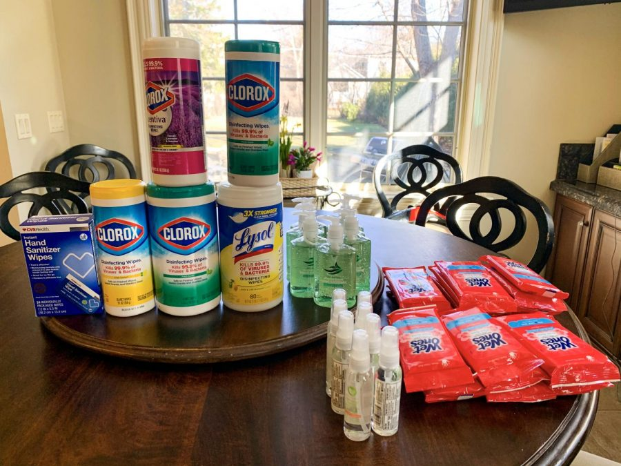 Some families have started stockpiling food and disinfectant products because of the novel coronavirus