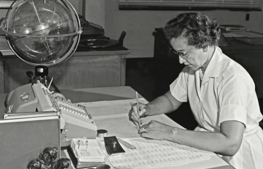 Mathematician Johnson working at NASA at the age of 33