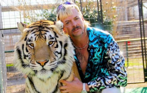 Joe Exotic with one of his tigers from the Netflix show