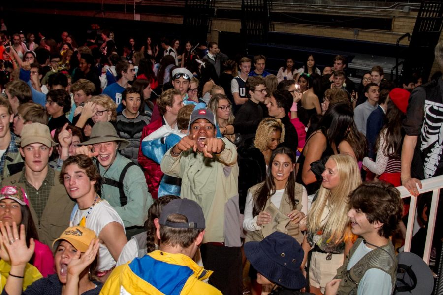 Students mingle during the Homecoming Dance in 2019