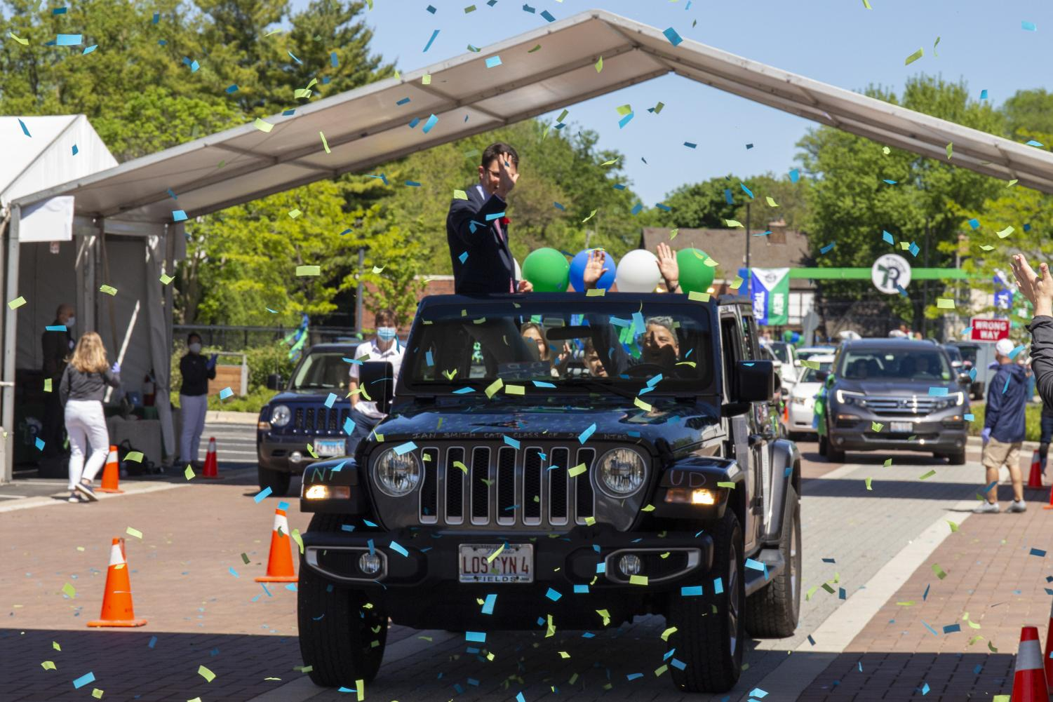 On May 31, seniors rolled through a graduation ceremony that was more party than pomp