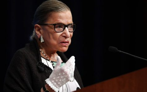 Ginsburg speaking at the Georgetown Law Center in 2017
