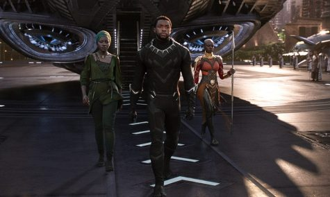 "Boseman (middle) as  ""Black Panther"", has left a lasting legacy on and off the screen"