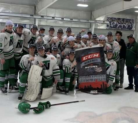 New Trier Green celebrates after winning Motown Classic, in Detroit, Michigan on Oct. 18