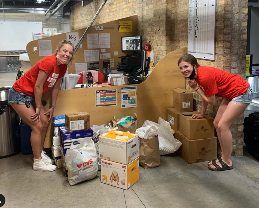 Miller and Richards drop off donations from SDA Wilmette members at the Connections for the Homeless in Evanston on May 29. The toiletry drive lasted six days, and the group raised $500 in monetary donations in addition to the toiletries that were donated