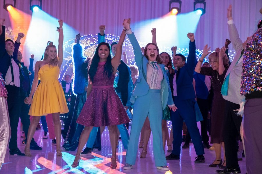 "Ariana DeBose and Jo Ellen Perlman in Netflix's ""The Prom"""