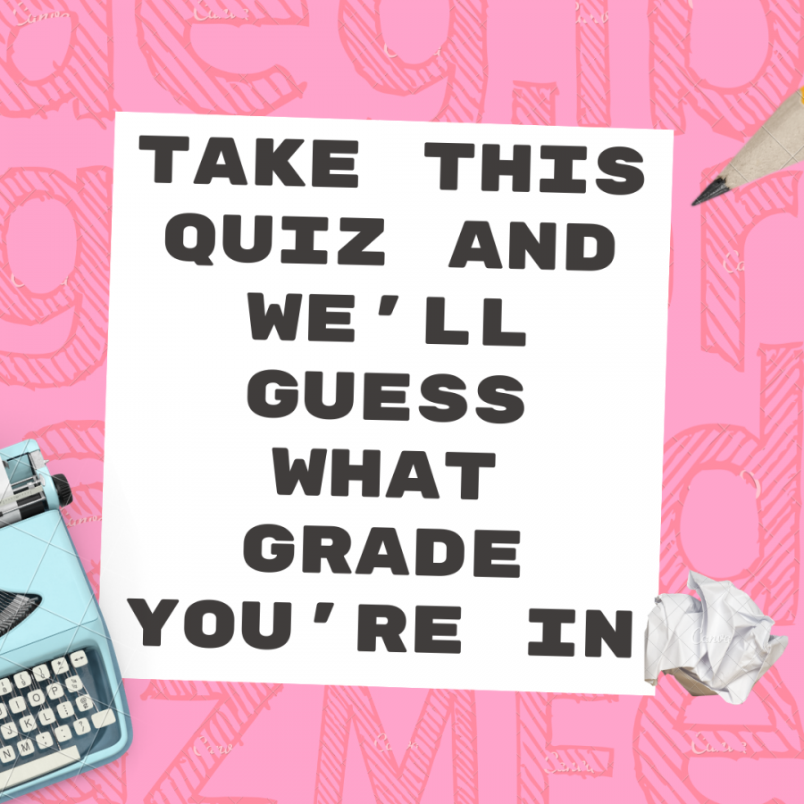 Take this quiz and we'll guess what grade you're in!