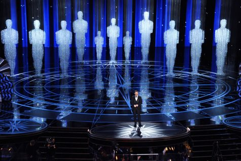 Host Jimmy Kimmel speaks at the Oscars in Los Angeles on Feb. 26, 2017