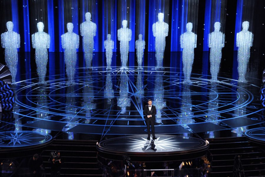 Host Jimmy Kimmel speaks at the Oscars in Los Angeles on Feb. 26, 2017