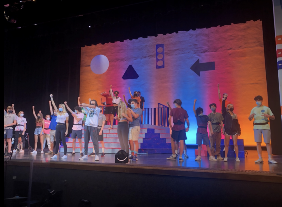 Student actors run through dress rehearsals before the premiere of Lagniappe