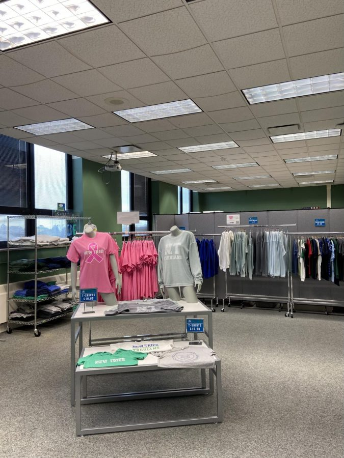 The One Stop Trev Shop tucked away on the 4th floor of the Winnetka Campus houses shelves and racks filled with merchandise.